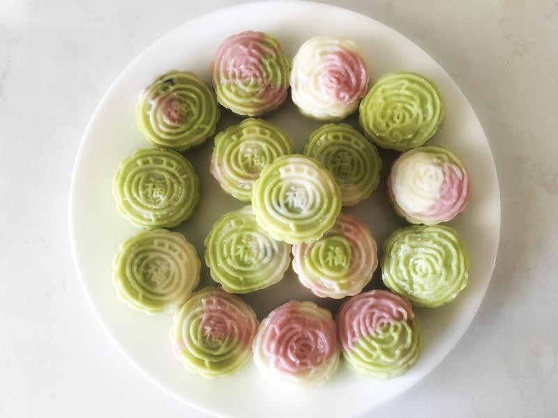🌟彩色冰皮月餅🌟