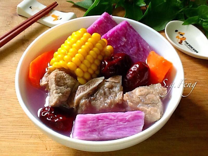 紫山藥玉米排骨湯