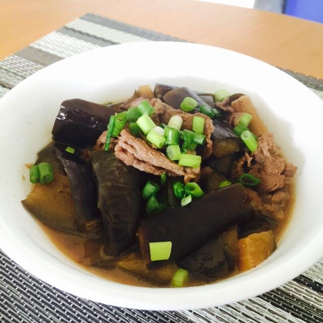 味噌燉牛肉茄子