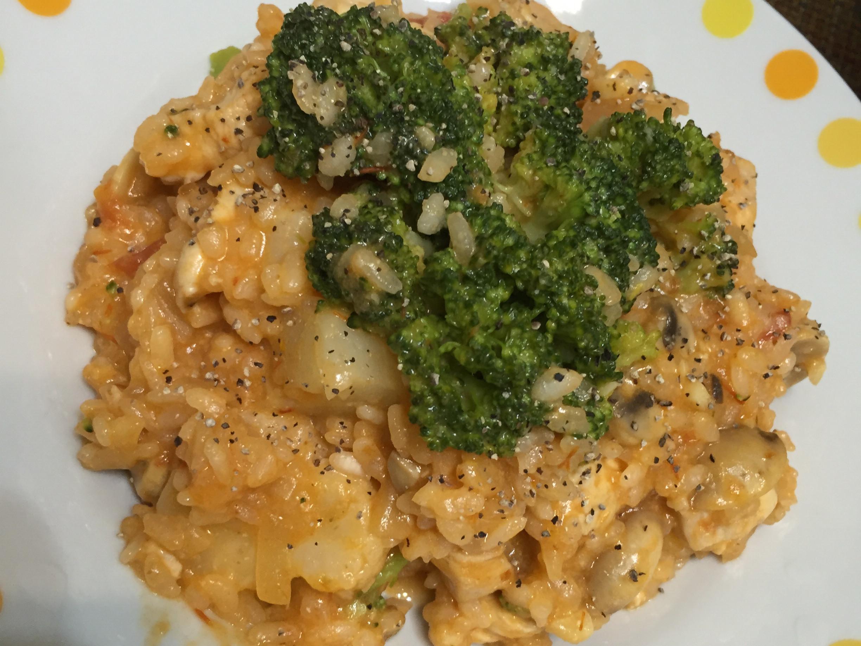 番茄蘑菇雞肉燉飯❤️美味又簡單