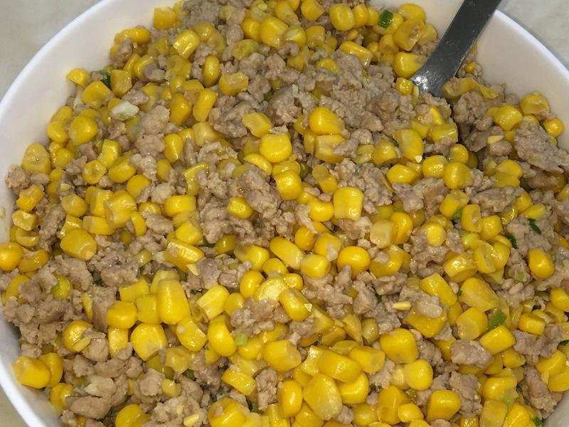 玉米粒 炒絞肉