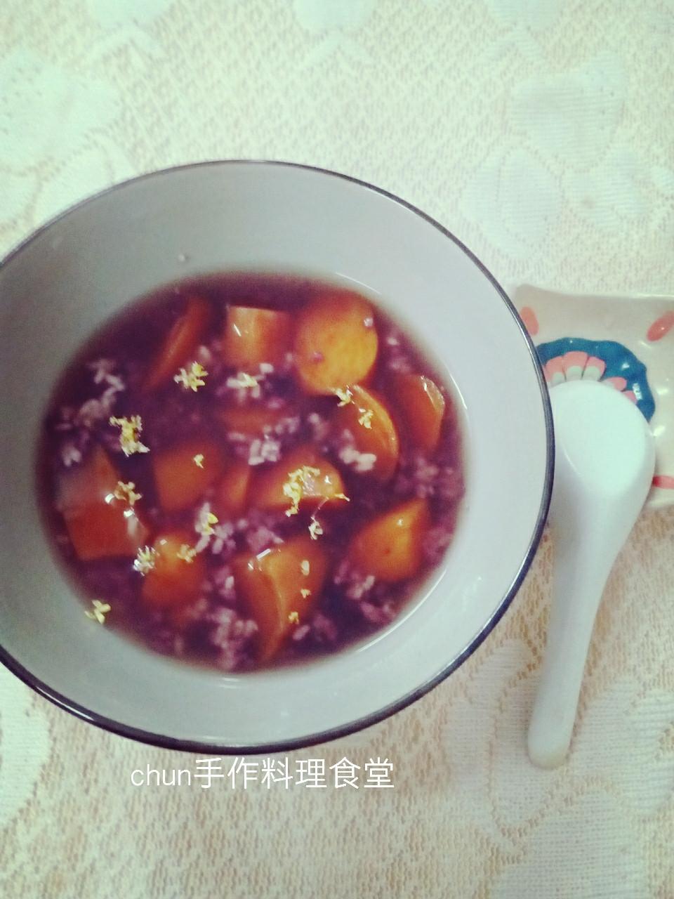 桂花酒釀紫米蕃薯-38度金門高梁酒