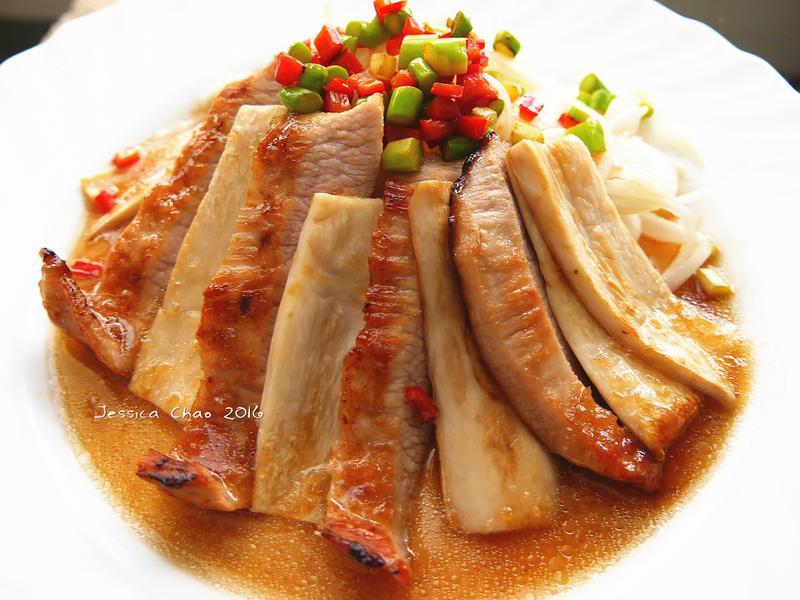 香煎松阪豬佐和風洋蔥醬【健康廚房】