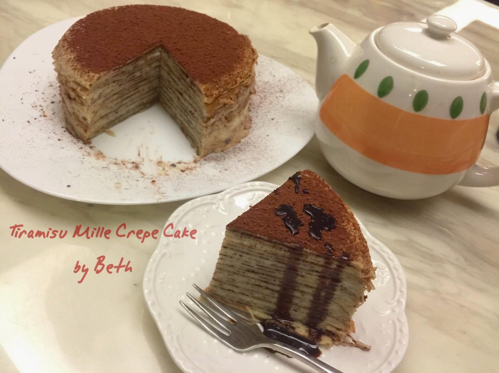 提拉米蘇千層蛋糕 - 免烤箱