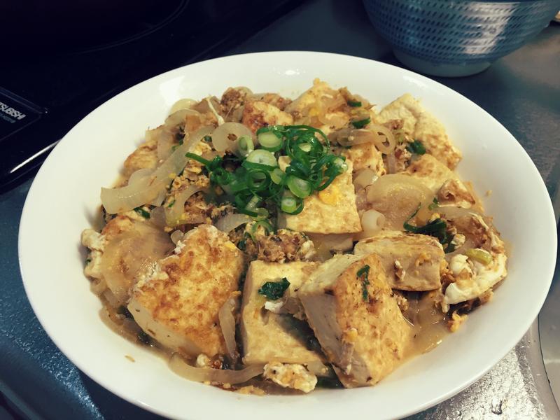 親子柴魚燉豆腐