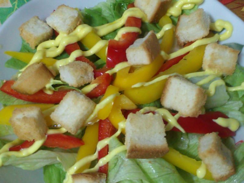 ㄚ曼達的廚房~土司沙拉