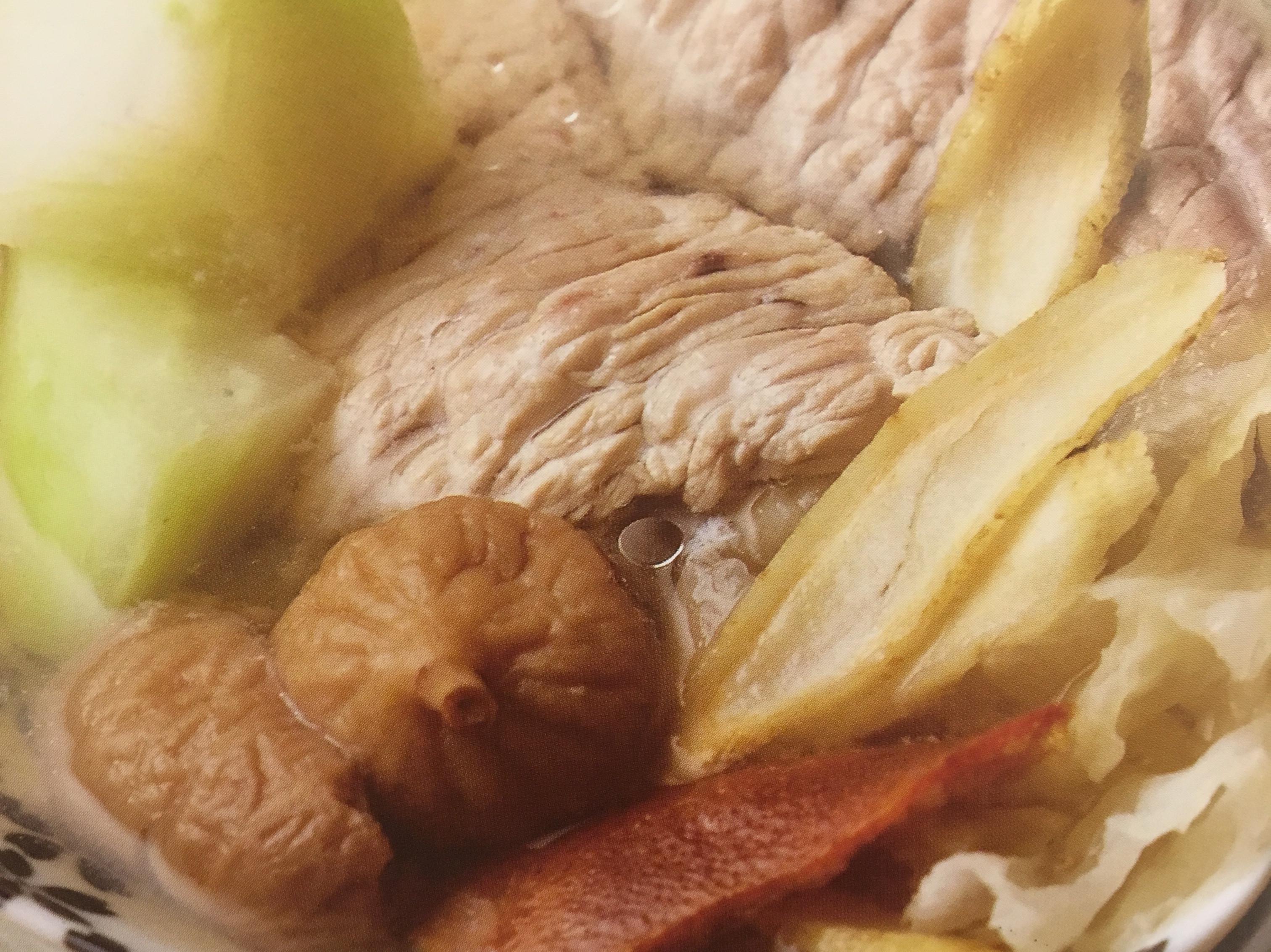 花旗蔘木瓜雪耳無花果煲廋肉-營養養胎篇
