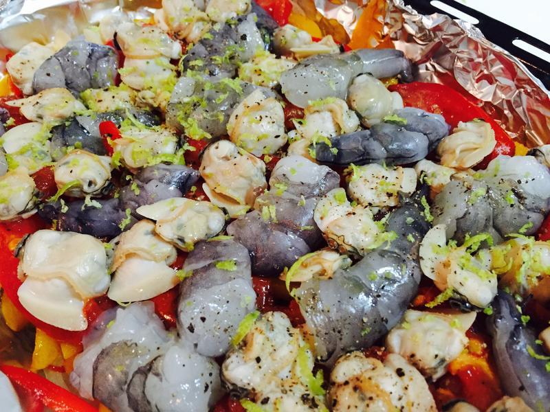 蔬菜燉烤海鮮