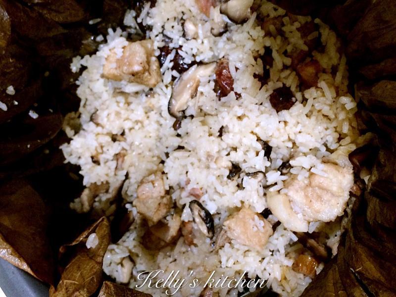 荷葉排骨臘腸蒸飯(電鍋版)