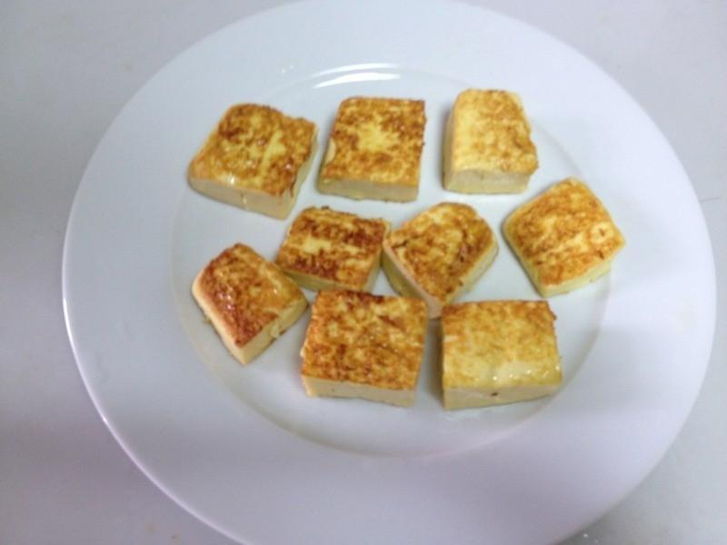 外宿生的簡單料理---煎豆腐