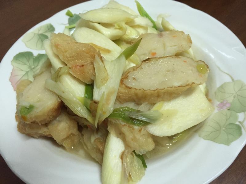 蝦卷炒筊白筍
