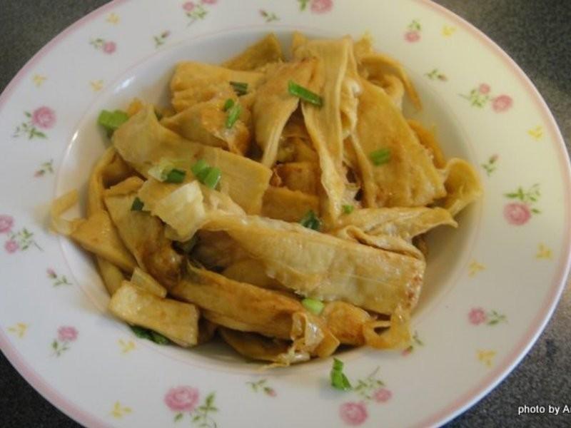 家傳炒豆腐皮