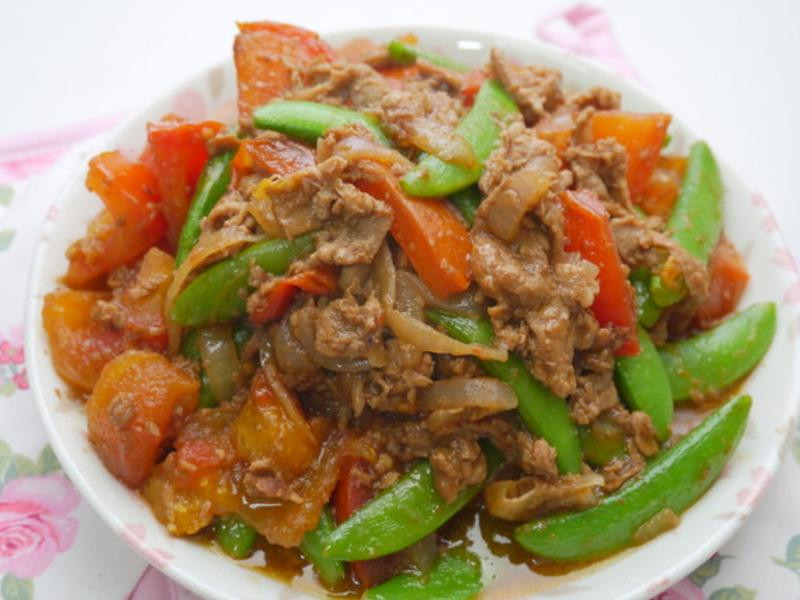 蕃茄炒肉片
