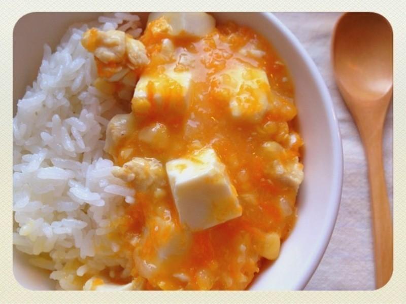 【妮小娜隨性煮】雞球玉米豆腐燴飯