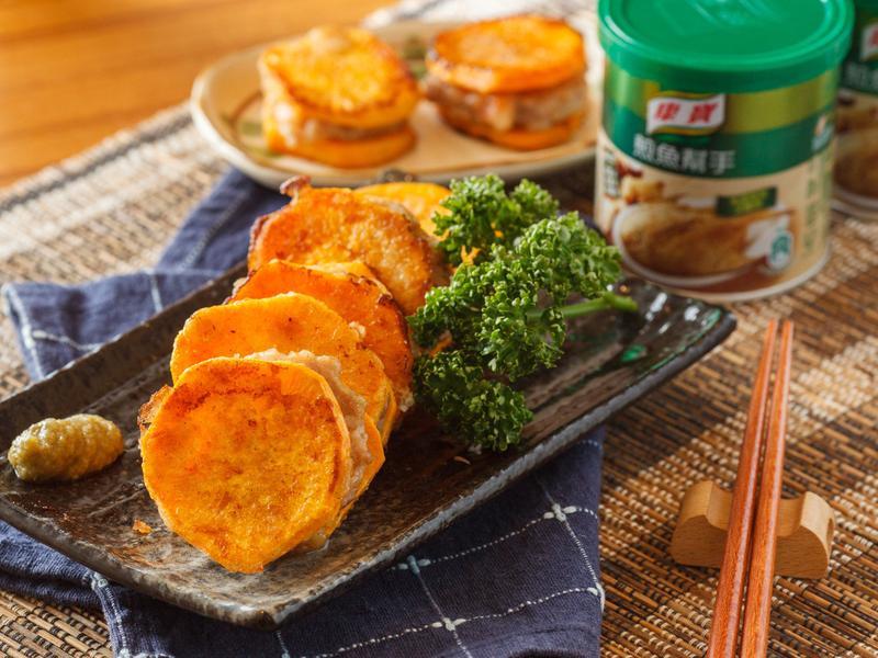 地瓜夾心餅【天然的煎魚幫手】