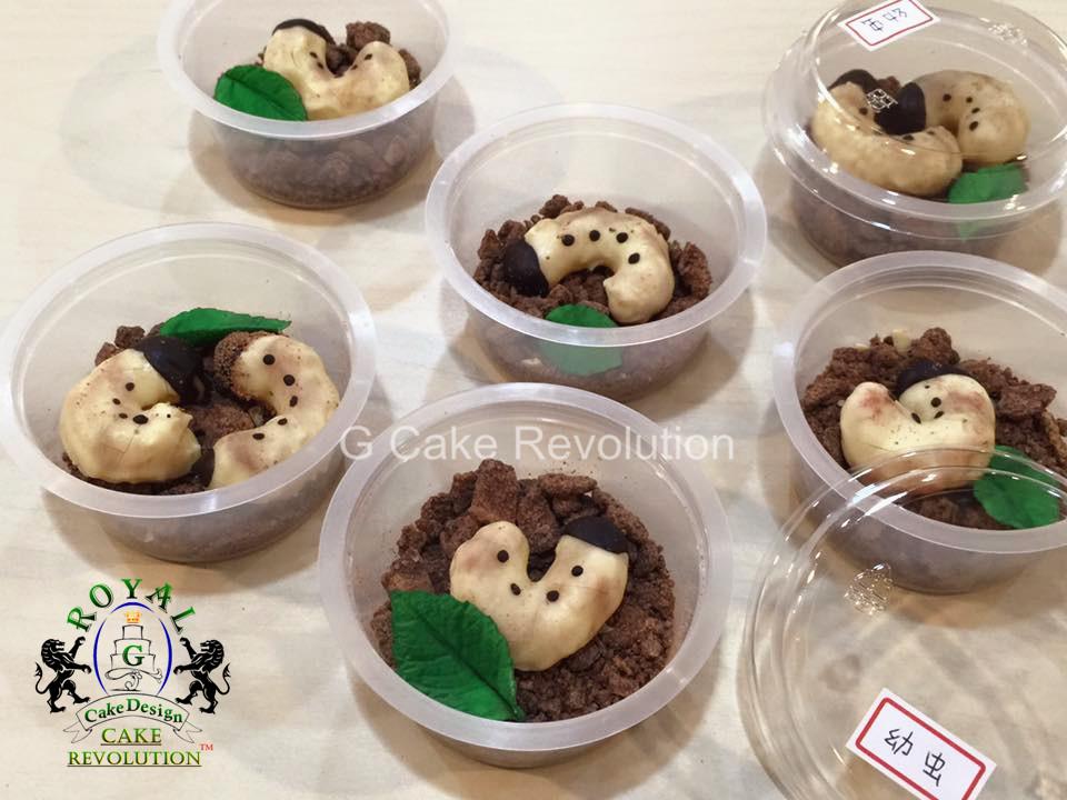 【萬聖節、愚人節】甲蟲幼蟲 巧克力餅乾