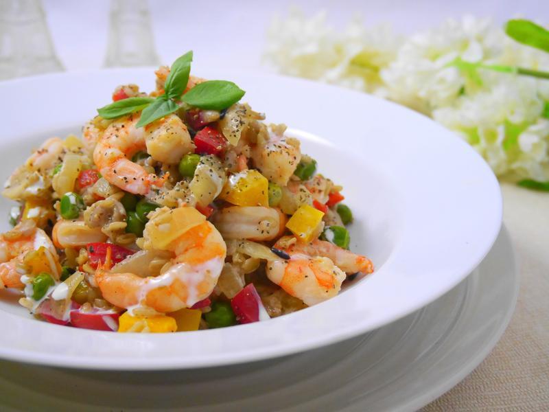 鮮蝦奶香彩蔬燉飯
