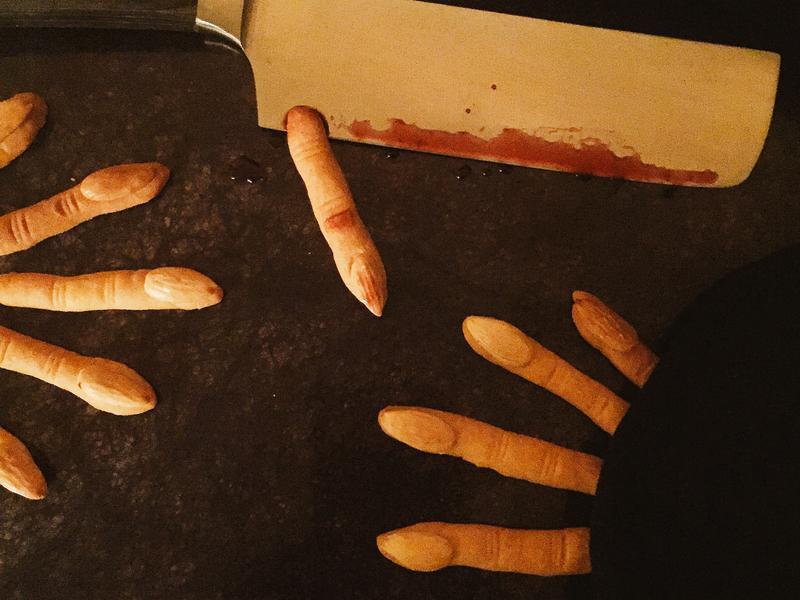 萬聖節巫婆手指餅乾