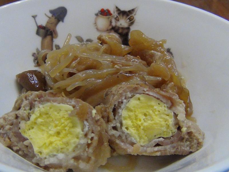 (冷凍蛋料理)冷凍蛋豬肉丼