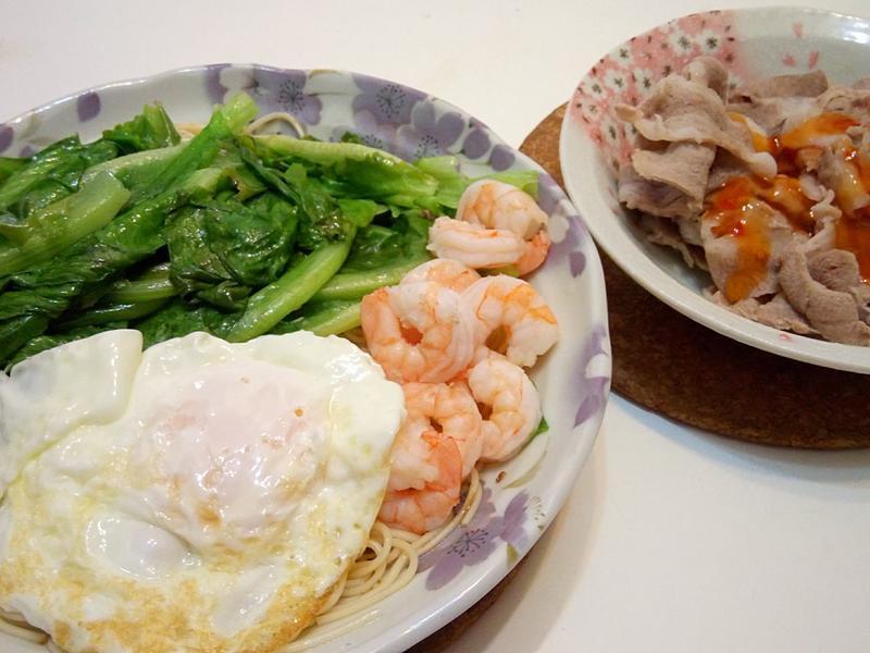 統一肉燥乾拌麵+泰式豬肉片