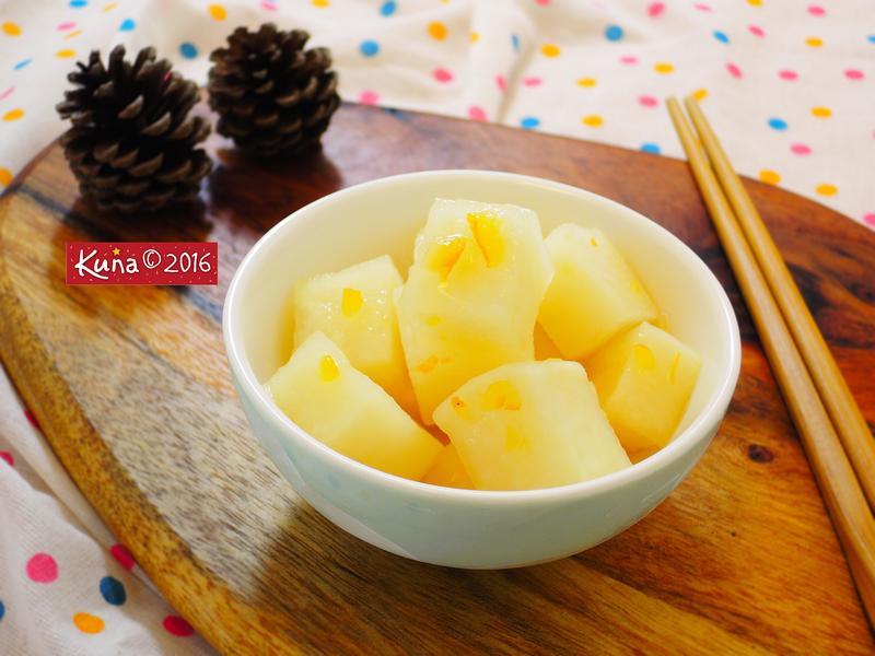 柚香醃漬白蘿蔔 [影片示範]