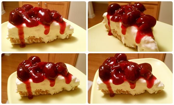 【甜煮】免烤手工櫻桃醬起司蛋糕