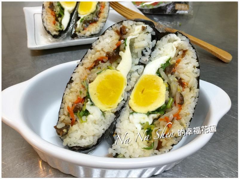 豆腐乳水波蛋壽司