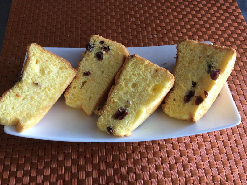 蔓越莓糯米戚風蛋糕