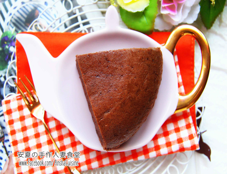 電鍋做蛋糕♡巧克力棉花蛋糕