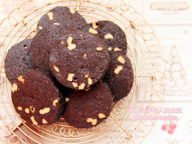 電鍋&電子鍋餅乾。巧克力核桃酥餅。免烤箱