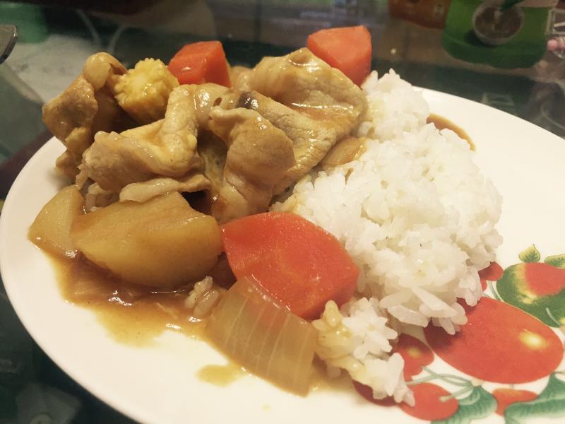 蔬食梅花豬肉起司咖哩