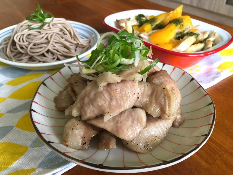 松阪豬、烤彩椒(水波爐_一爐兩菜)