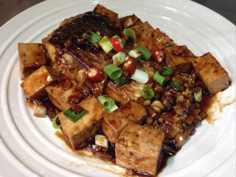 紅燒草魚板豆腐