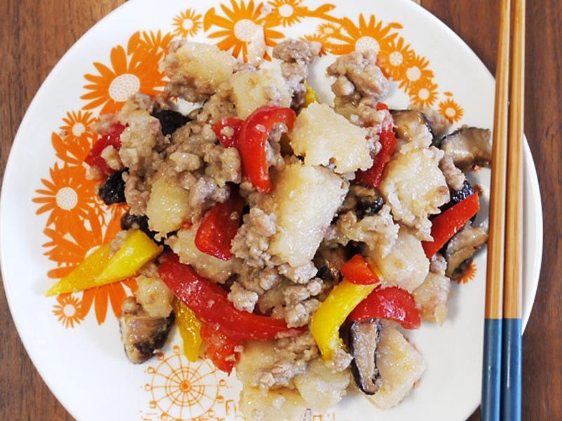 香菇肉燥炒蘿蔔糕 - 簡單中的美味