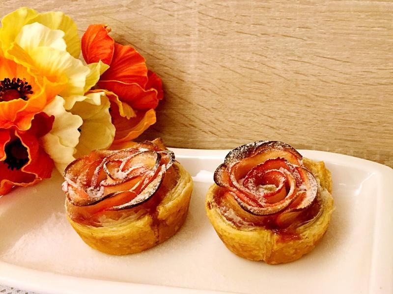 紅酒玫瑰花蘋果起酥