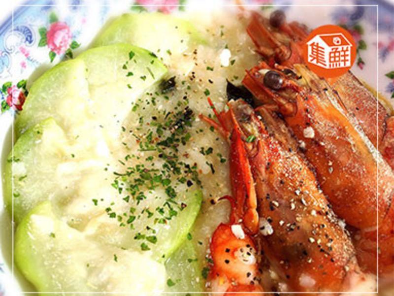 【集鮮屋】絲瓜戰鬥蝦粥