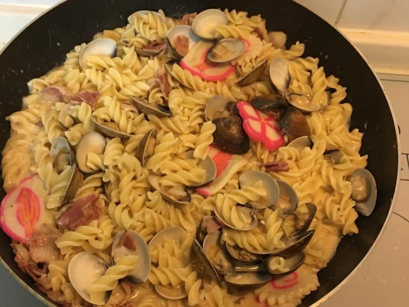 簡單又美味的白醬蛤蠣義大利麵