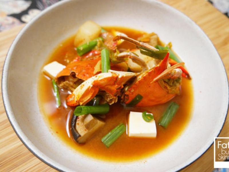 ►韓式食譜◀︎ 螃蟹辣湯— 게찌개