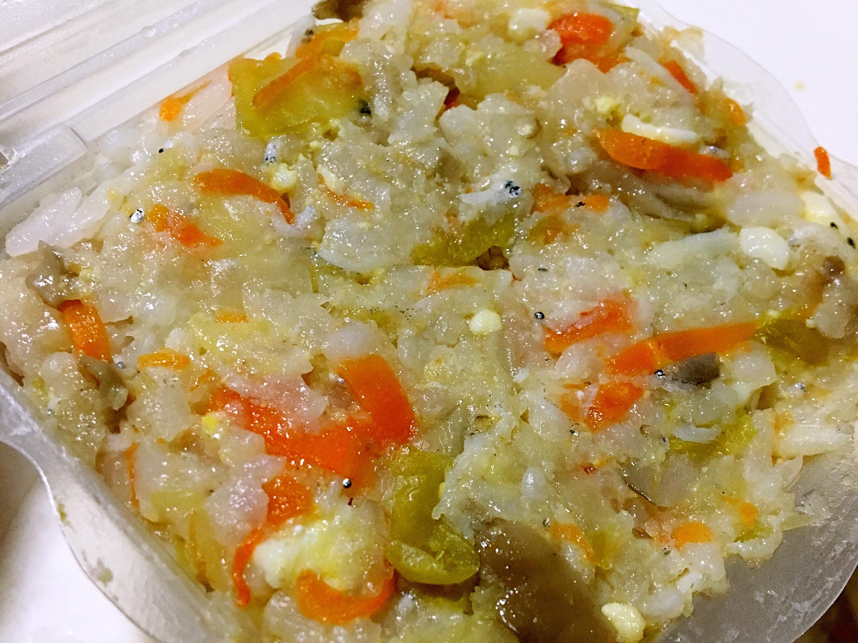 寶寶副食品👶🏻小魚蔬菜雞蛋飯
