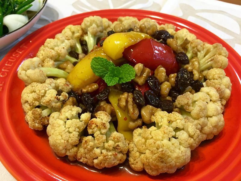 核桃蜂蜜烤白花椰菜(水波爐)