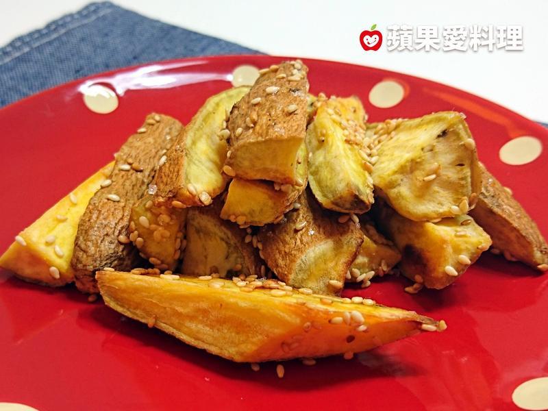烤芝麻地瓜薯條(大烤箱、小烤箱、平底鍋)