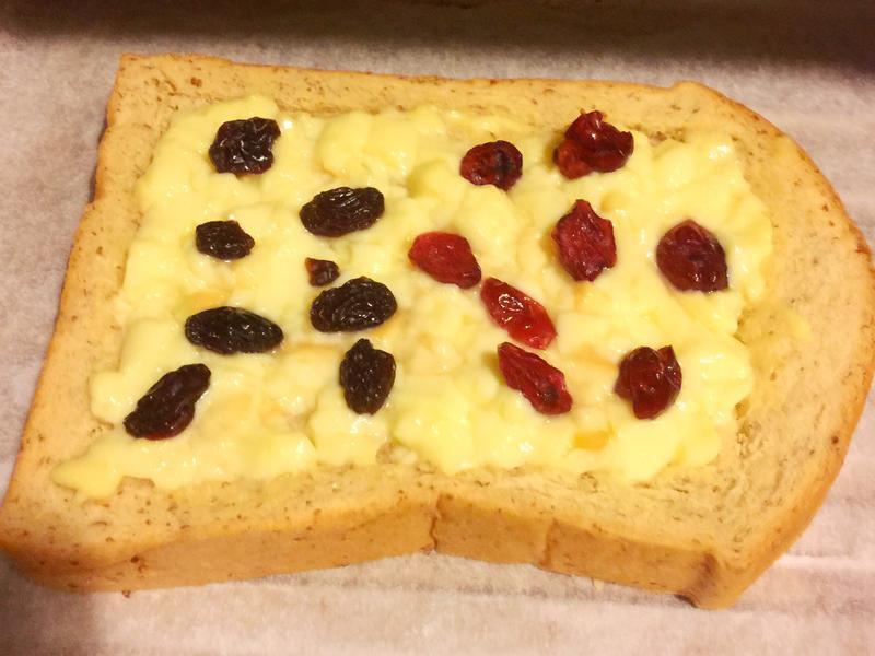 懶人蔓越莓乾葡萄乾布丁吐司(烤箱或微波爐