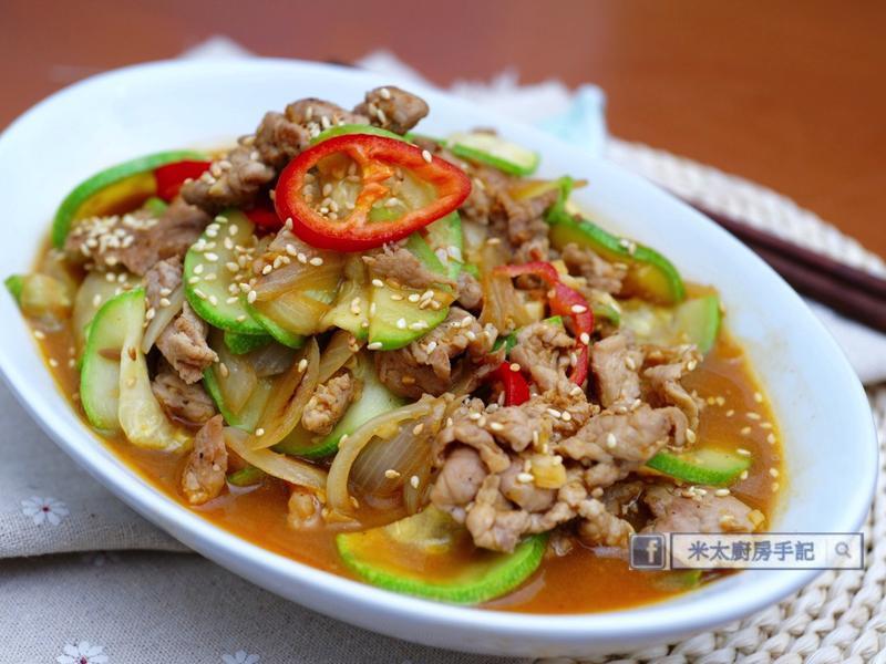 韓式翠玉瓜炒豬肉