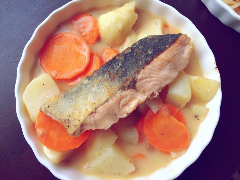 土豆罗卜三文鱼