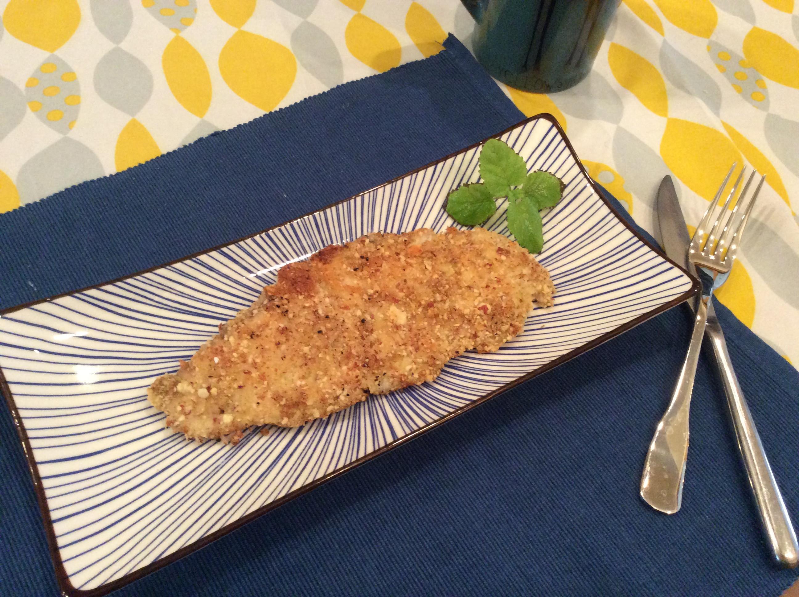杏仁酥煎鯛魚排