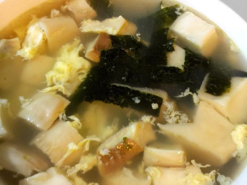 杏鮑菇海苔蛋花湯