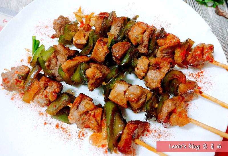 照燒豬肉串~大口吃肉man味十足