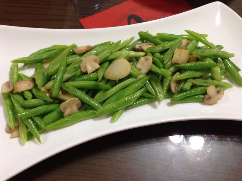 蒜香洋菇四季豆