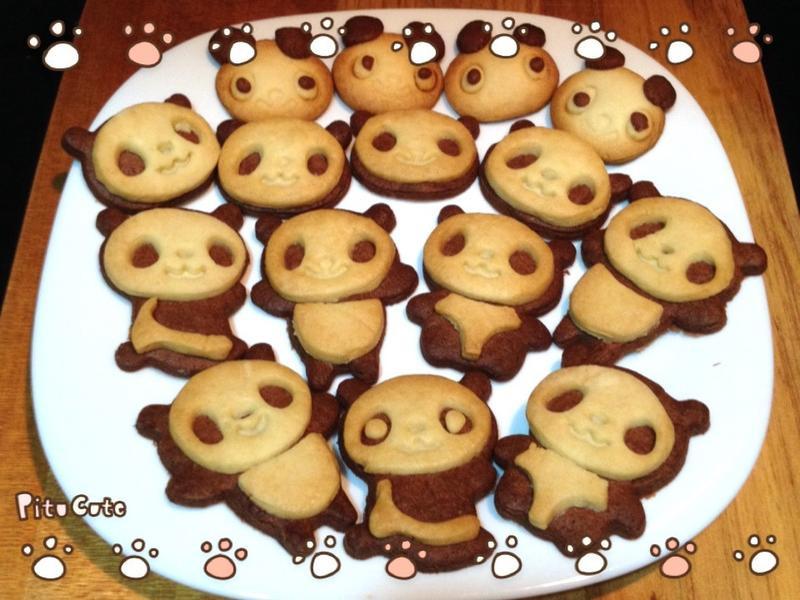 可愛熊貓餅乾