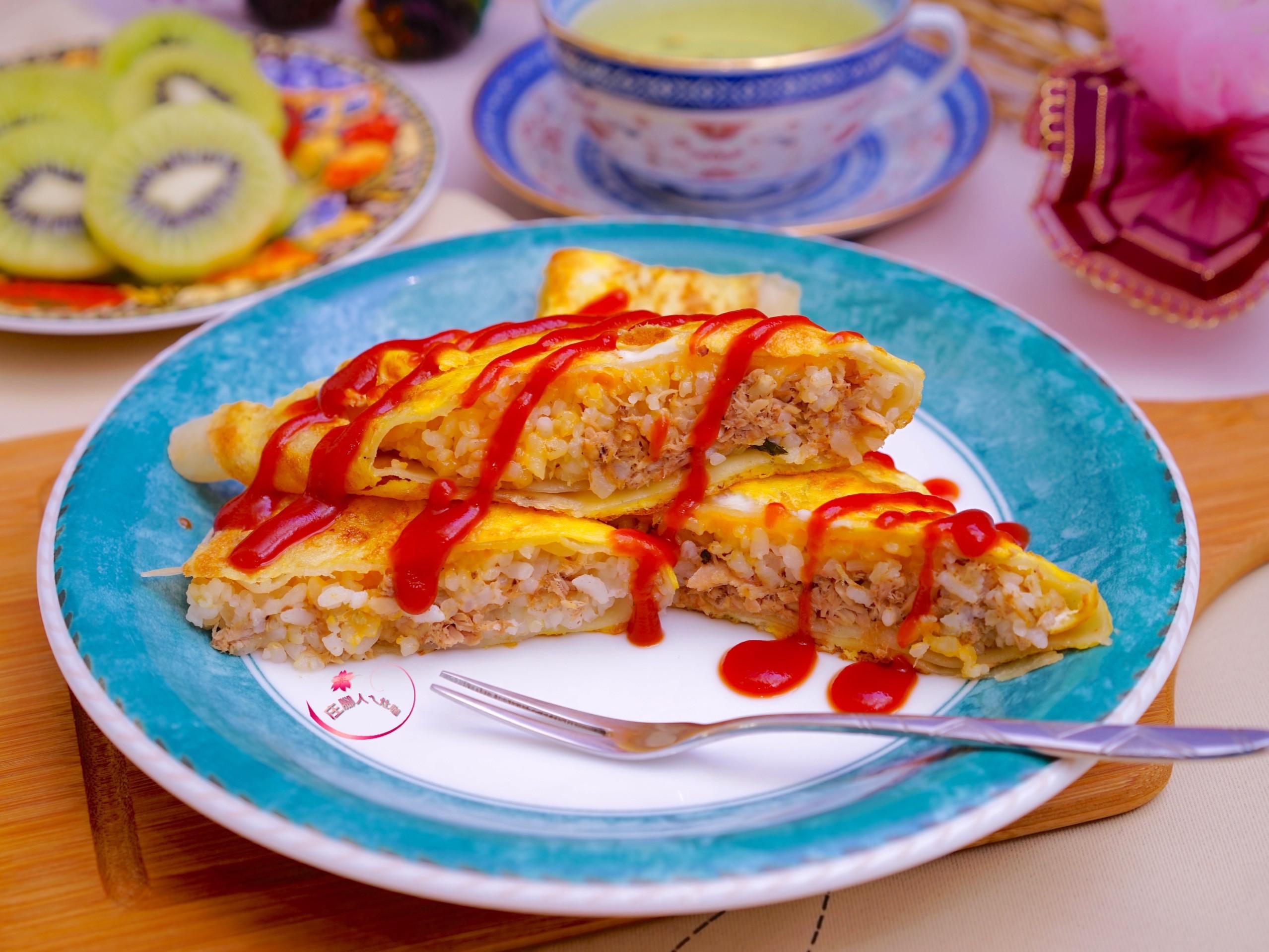 鮪魚飯蛋餅